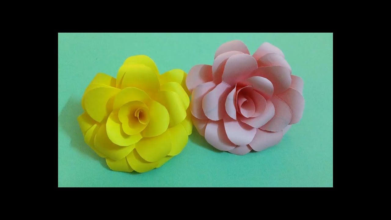 How To Make Rose Paper Flower Easy Origami Flowers For Beginners