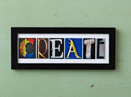 Take photos of letters around town and frame them for a fun collage.