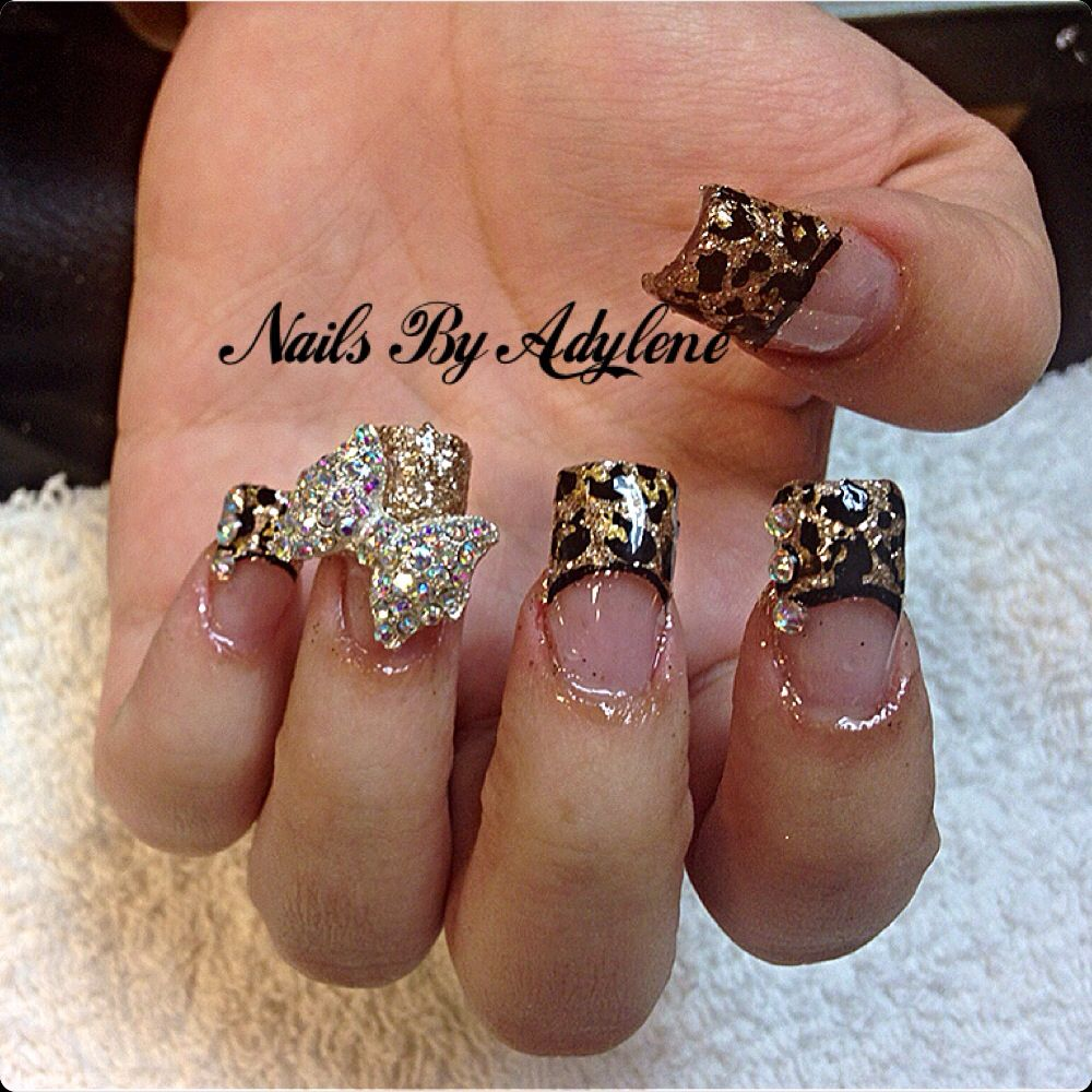 Cheetah nail art w3d bow nails by adylene pinterest cheetah cheetah nail art w3d bow prinsesfo Image collections