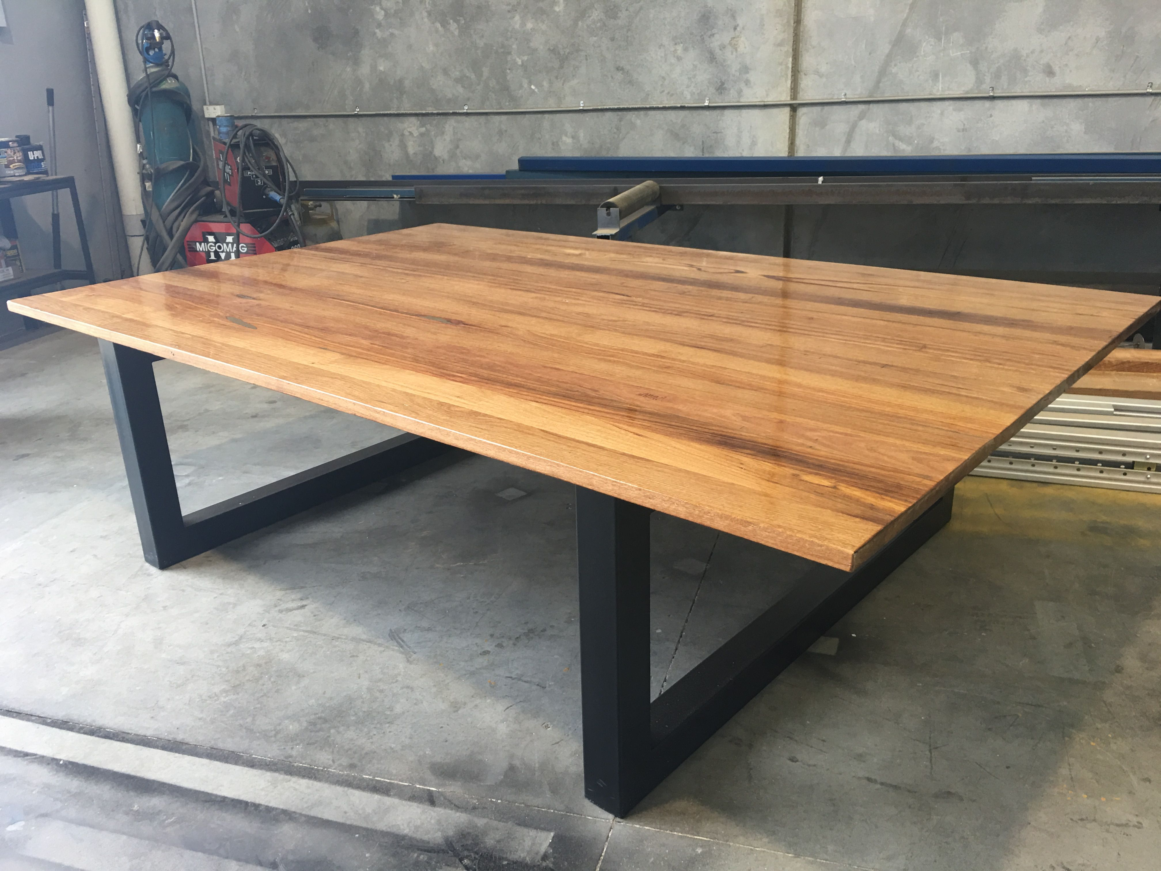 Recycled messmate industrial dining table made by
