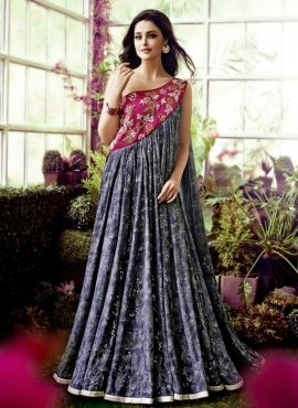 90c0f5b53e Blue evening pary wear deigner Indian raw silk gown | Gowns ...