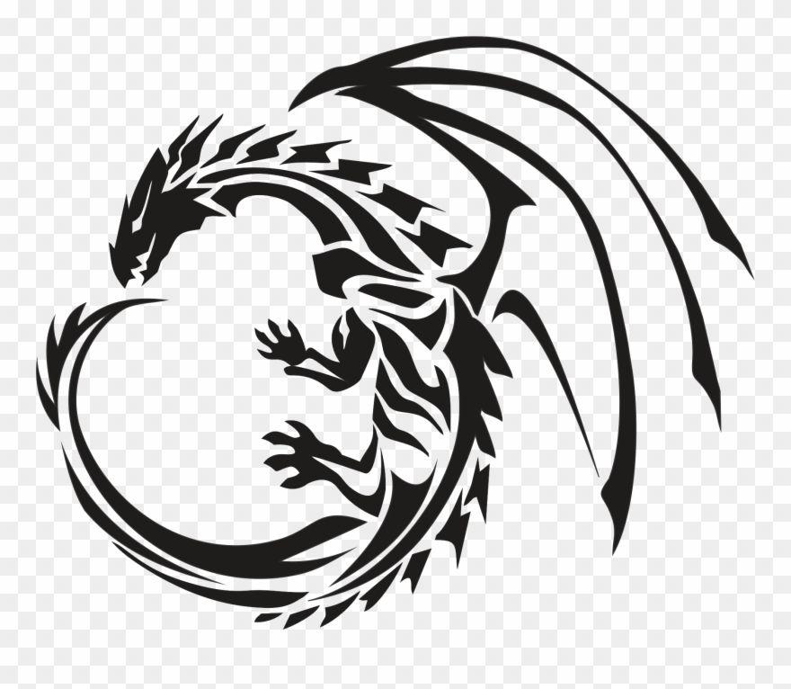 Download Hd Circle Dragon Tattoo Transparent Png Stickpng Gold Dragon Logo Transparent Background Clipart Dragon Tattoo Art Dragon Icon Dragon Tattoo Circle