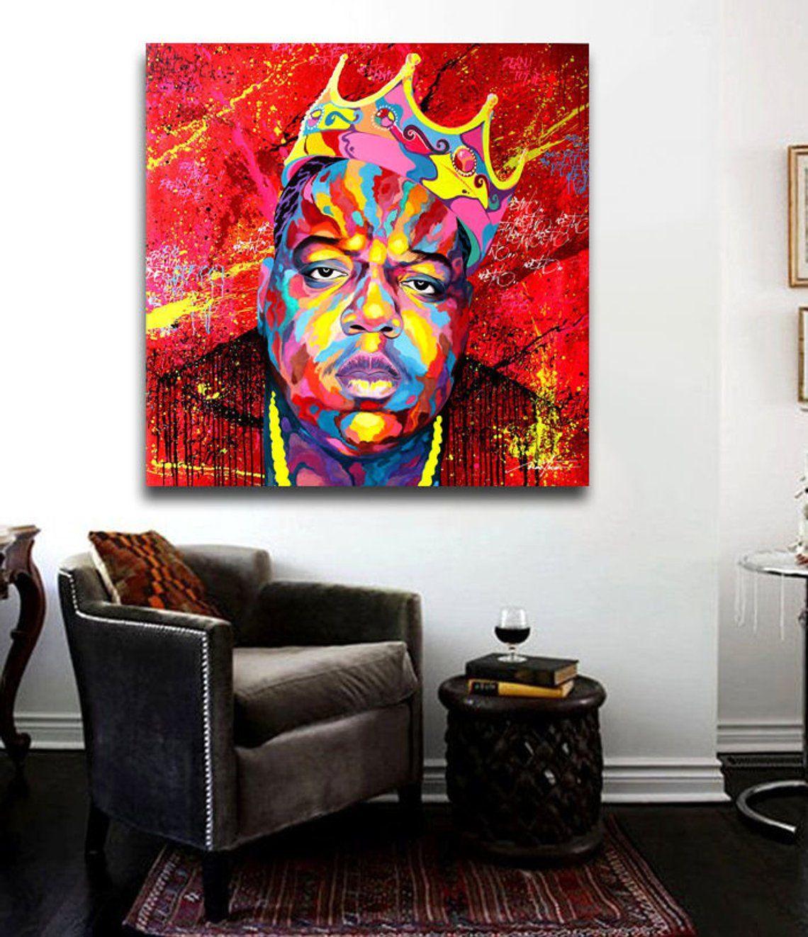 Biggie smalls notorious big 24 x 24 canvas print hip hop