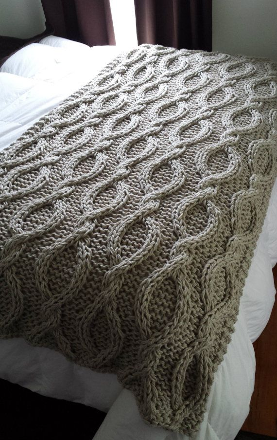 Infinity Cable Knit Blanket PATTERN by OzarksMomma on Etsy ...