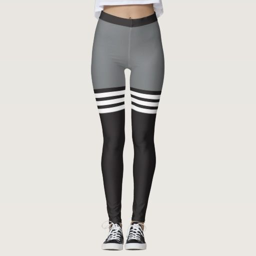 892cb995b523f4 Black & White Striped Sports Leggings | Zazzle.com in 2019 | Fashion ...