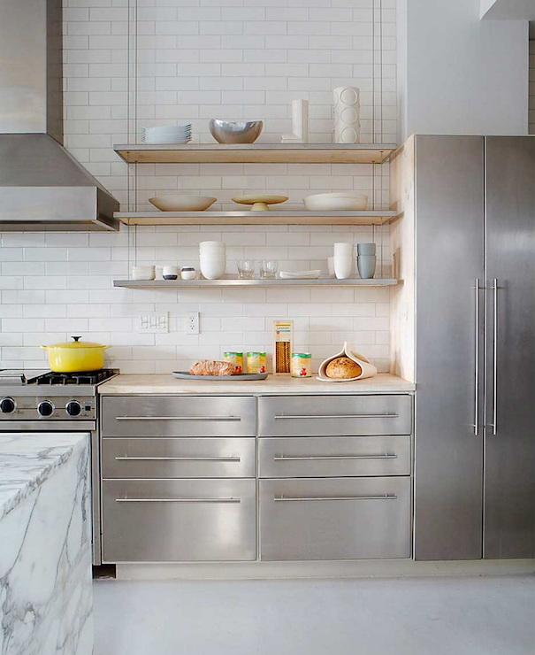 Stainless Steel Cabinets Modern Kitchen Jean Allsopp