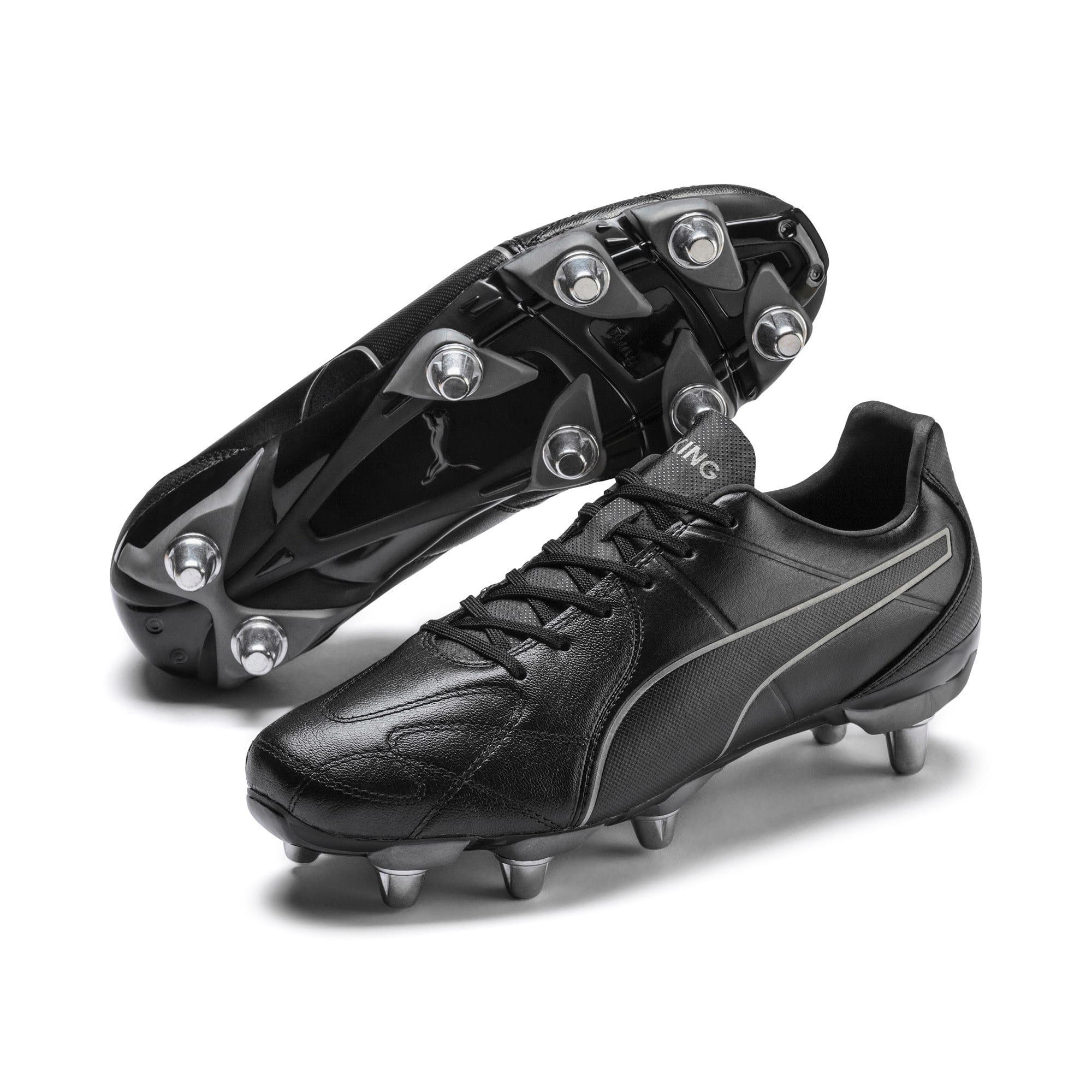 PUMA King Hero H8 Men's Rugby Boots in Black/Aged Silver size 11.5 #stylishmen