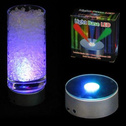 Battery Operated Colour Change LED Light Base {instant Glam For Under  Bottles Of Juice,