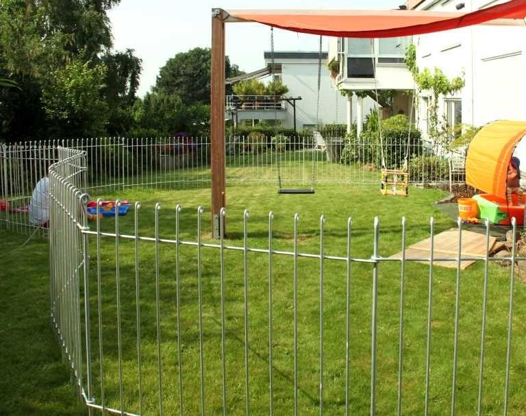La clôture jardin amovibles permet un montage rapide et ...