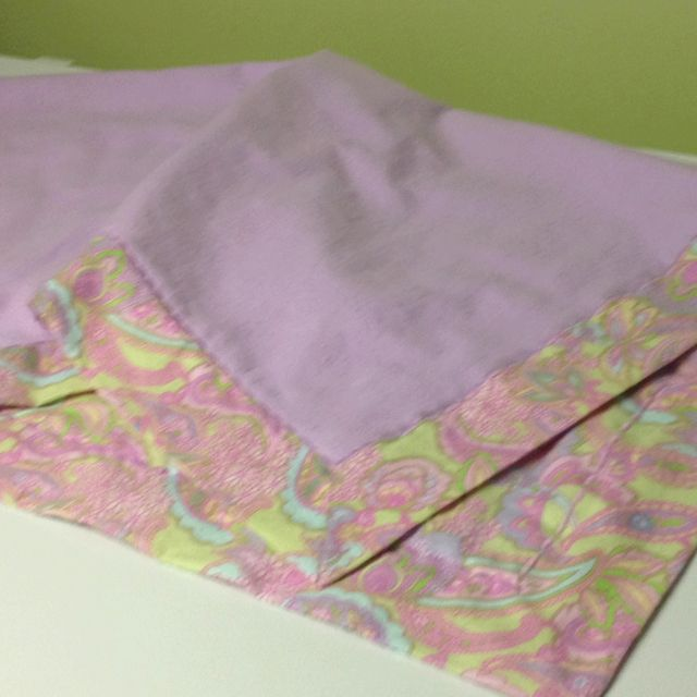 Self-binding Receiving Blanket I Made Per The Instructions