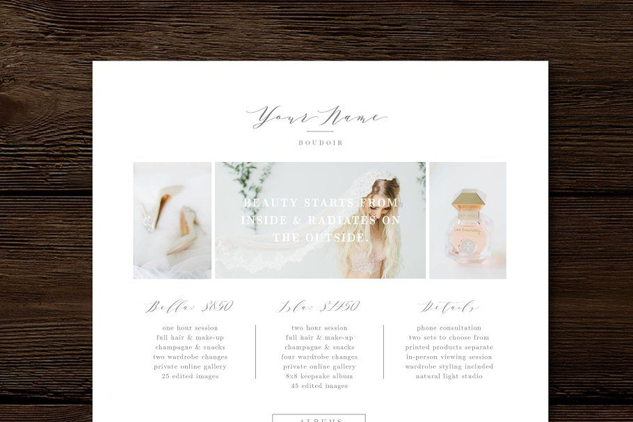 Guide Templates Boudoir Pricing Guide Template #guide#pricing#boudoir#templates .