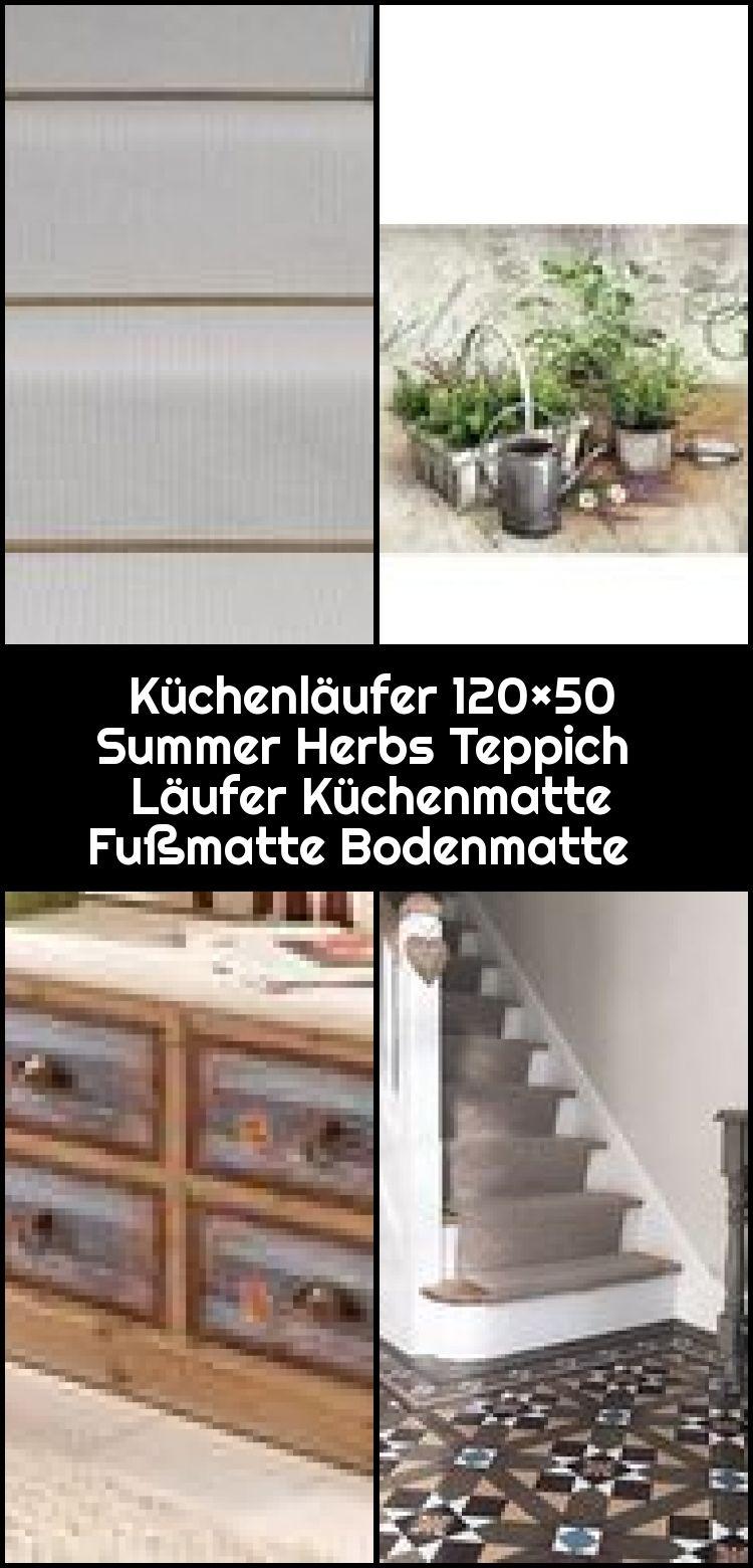 Kuchenlaufer 120 50 Summer Herbs Teppich Laufer Kuchenmatte Fussmatte Bodenmatte Kuchenmatte Boden Teppich