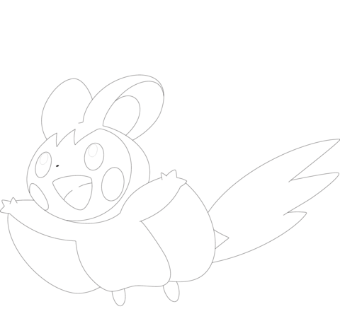 Emolga Coloring Page Coloring Pages Pokemon Coloring Coloring Books