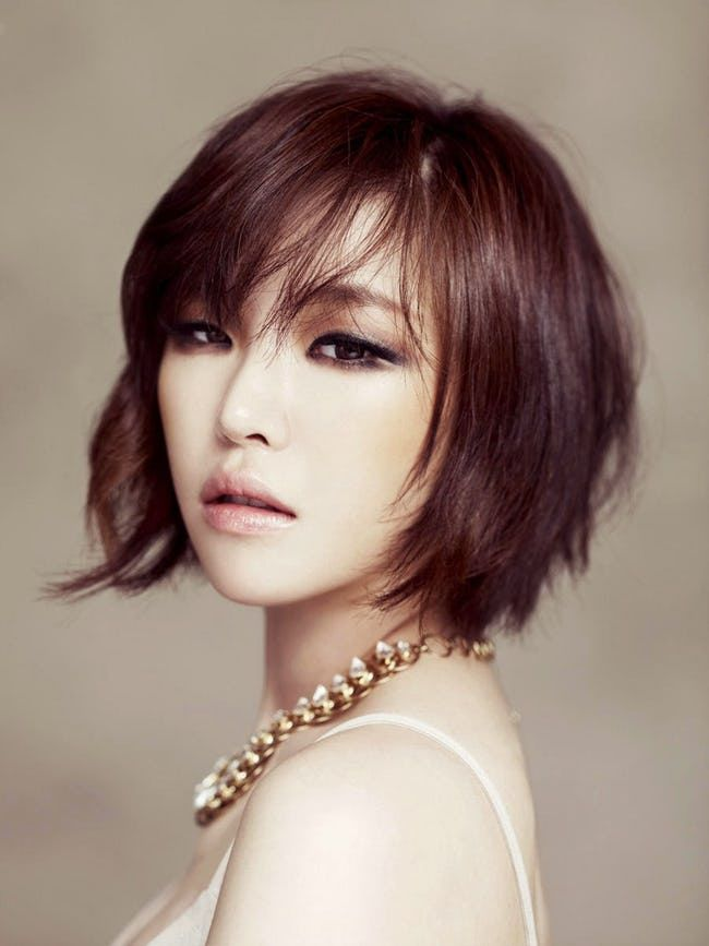 The Best Short Hairstyles For Asians Short Hairstyle Side Fringe