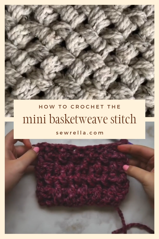 Photo of Crochet Mini Basketweave Blanket