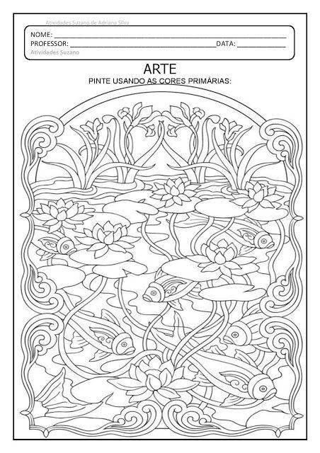 Arte Cores Primarias E Secundarias Atividades De Artes Visuais