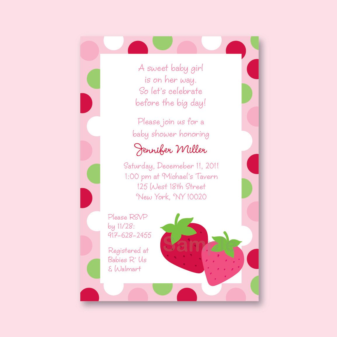Berry Sweet Strawberry Shortcake Custom by LittlePrintsParties ...