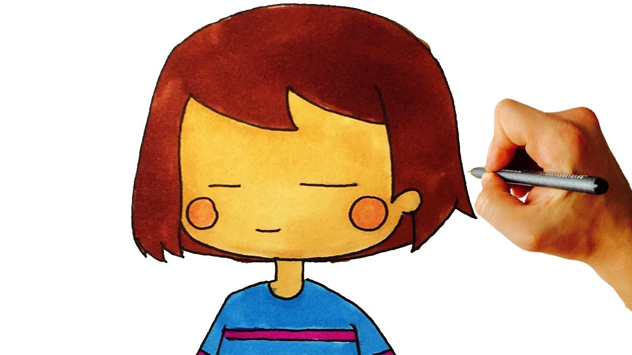 How to draw Frisk from Undertale easy step by step drawing lesson