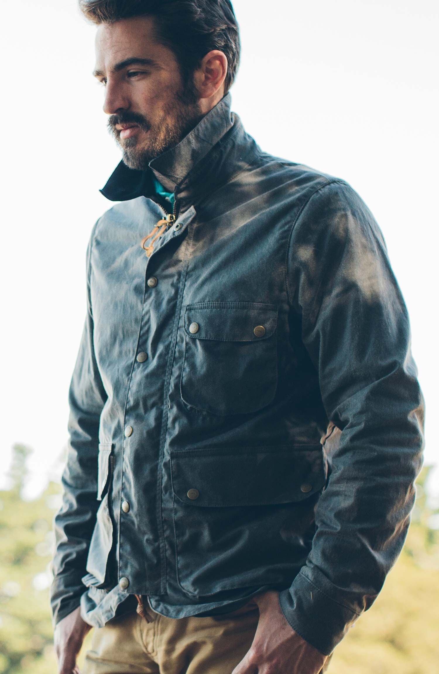 The Rover Jacket In Slate Waxed Canvas Mens Fashion Rugged Mens Canvas Jacket Waxed Canvas Jacket