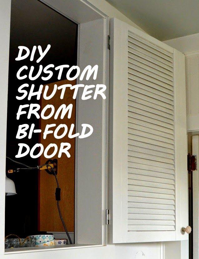 Diy Shutter From Bi Fold Door Diy Shutters Sliding Door