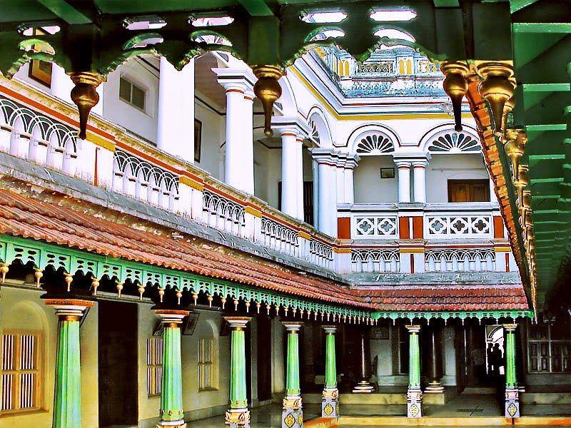 Kaleidoscope Old Bungalows Houses In Indian Villages Chettinad House Karaikudi India Architecture