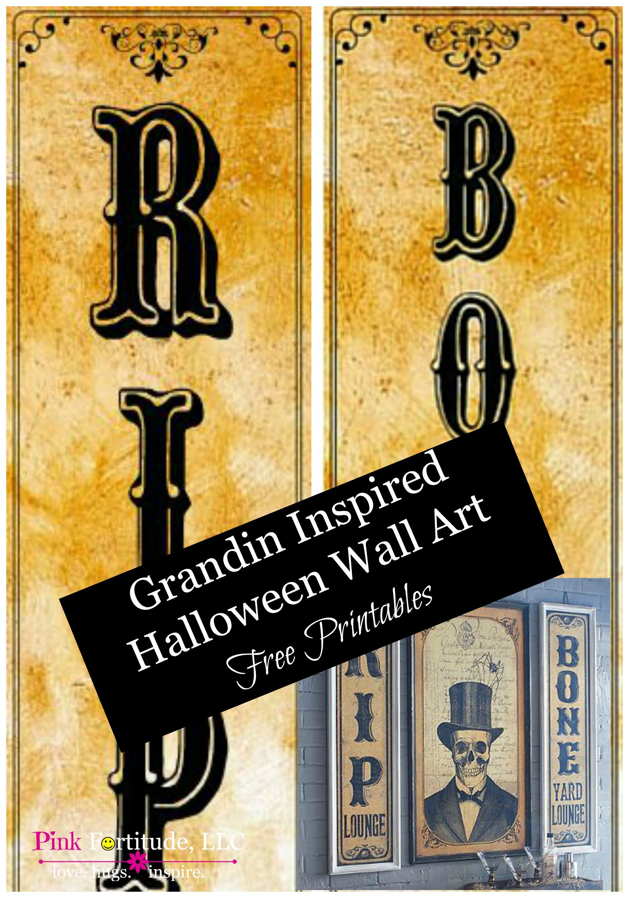Halloween Wall Art Copy DIY - Free Printables by ...