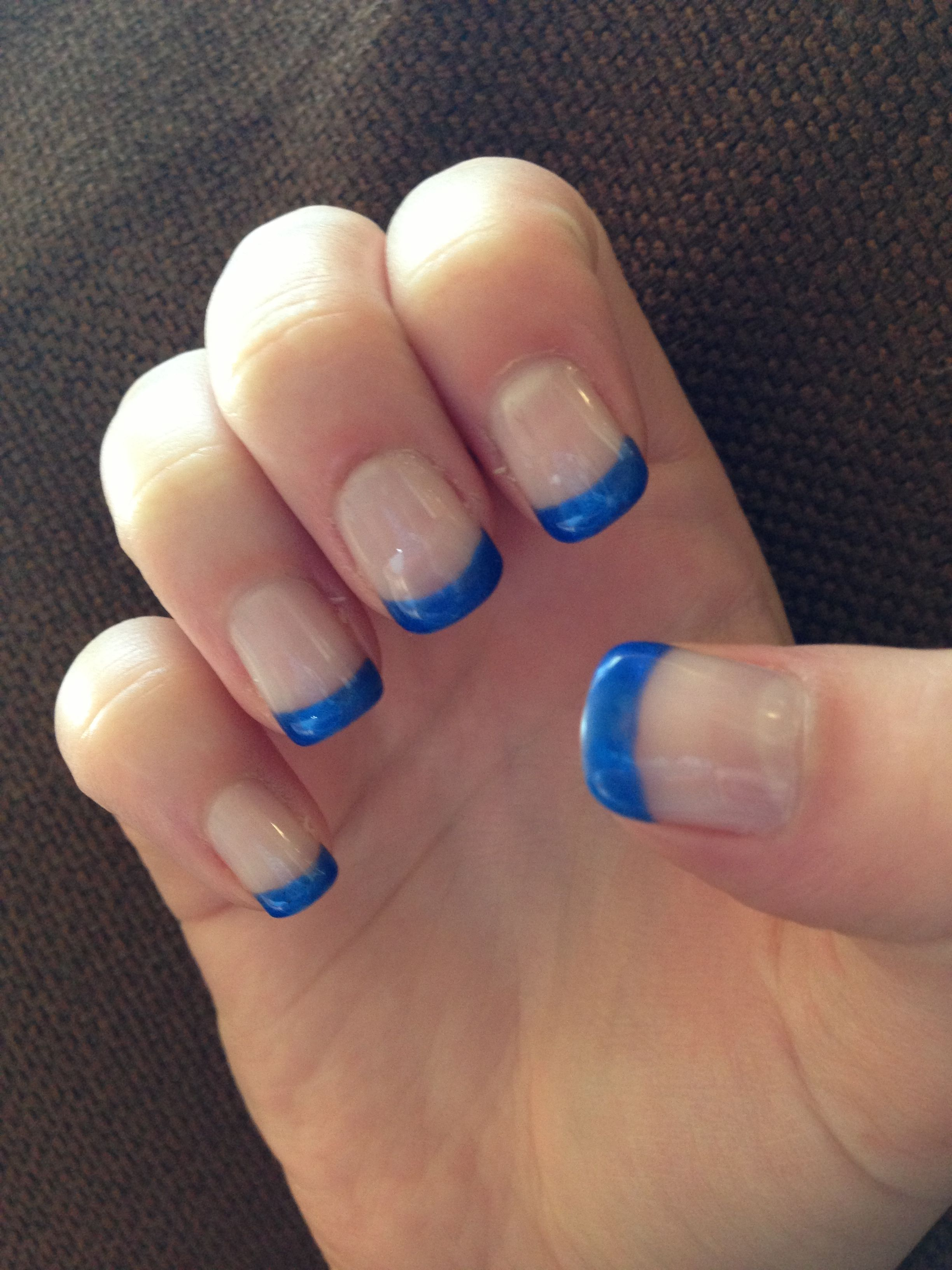 French manicure with dark blue tips! | Nails | Pinterest | Manicure ...