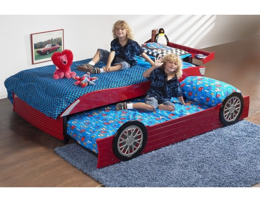 Best Race Car Beds Roll Out Trundle Bed Optional For 400 x 300