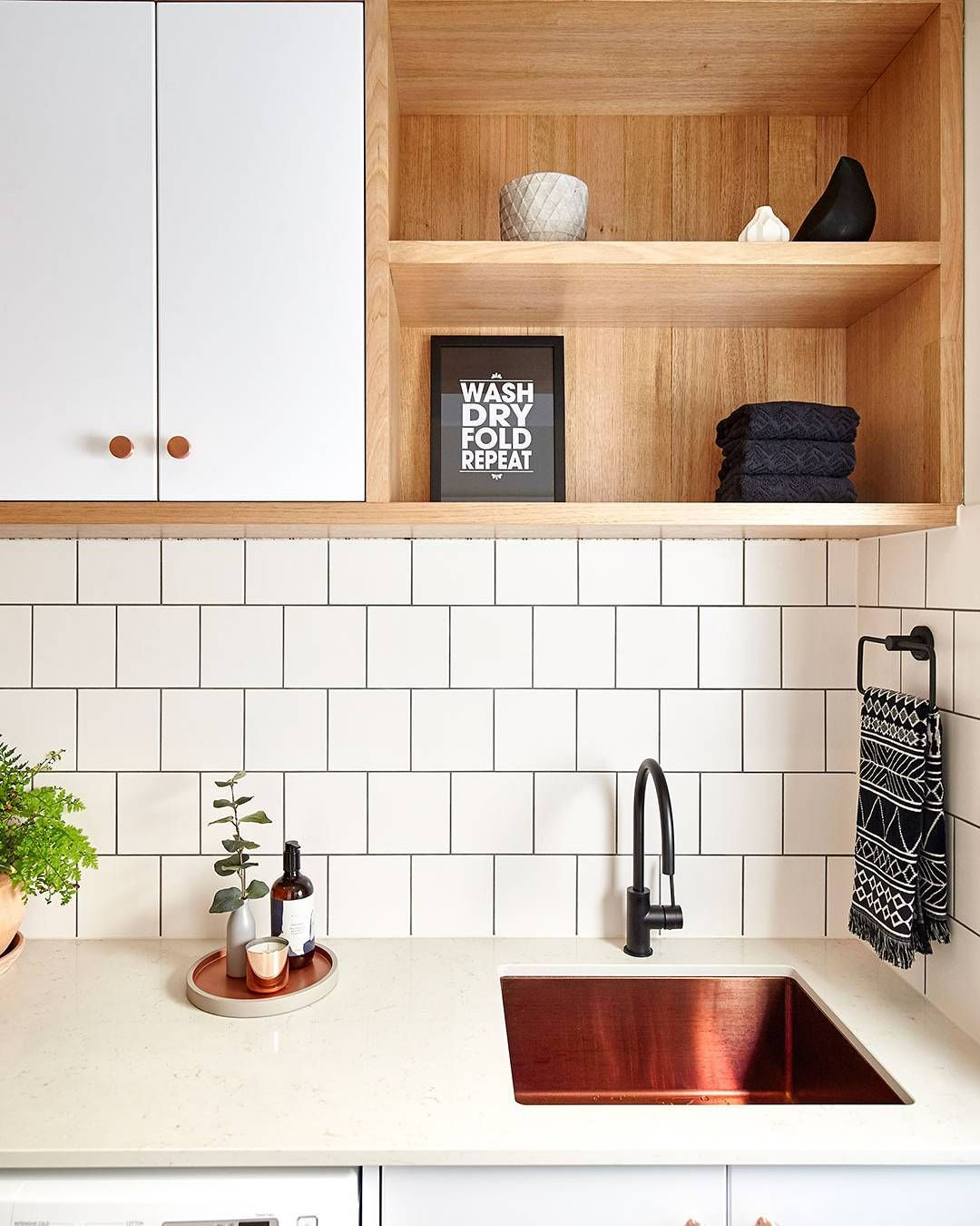 bunnings warehouse on instagram make the most of your laundry storage space with a mix of open on kaboodle kitchen storage id=17140