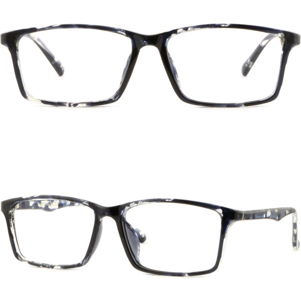 large bendable memory plastic frame wide prescription glasses sunglasses black - Wide Eyeglass Frames