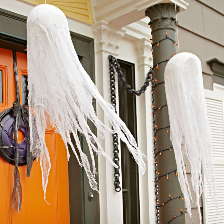 EASY CHEESECLOTH FLOATING GHOSTS