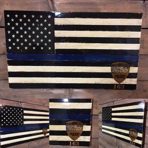 Laser Engraved Thin Blue Line