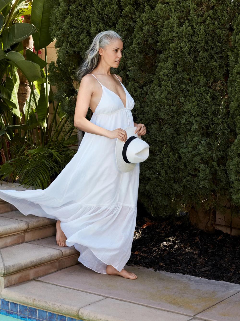 Ramie Maxi Dress Banana Republic In 2020 Dresses Maxi Dress White Maxi Dresses