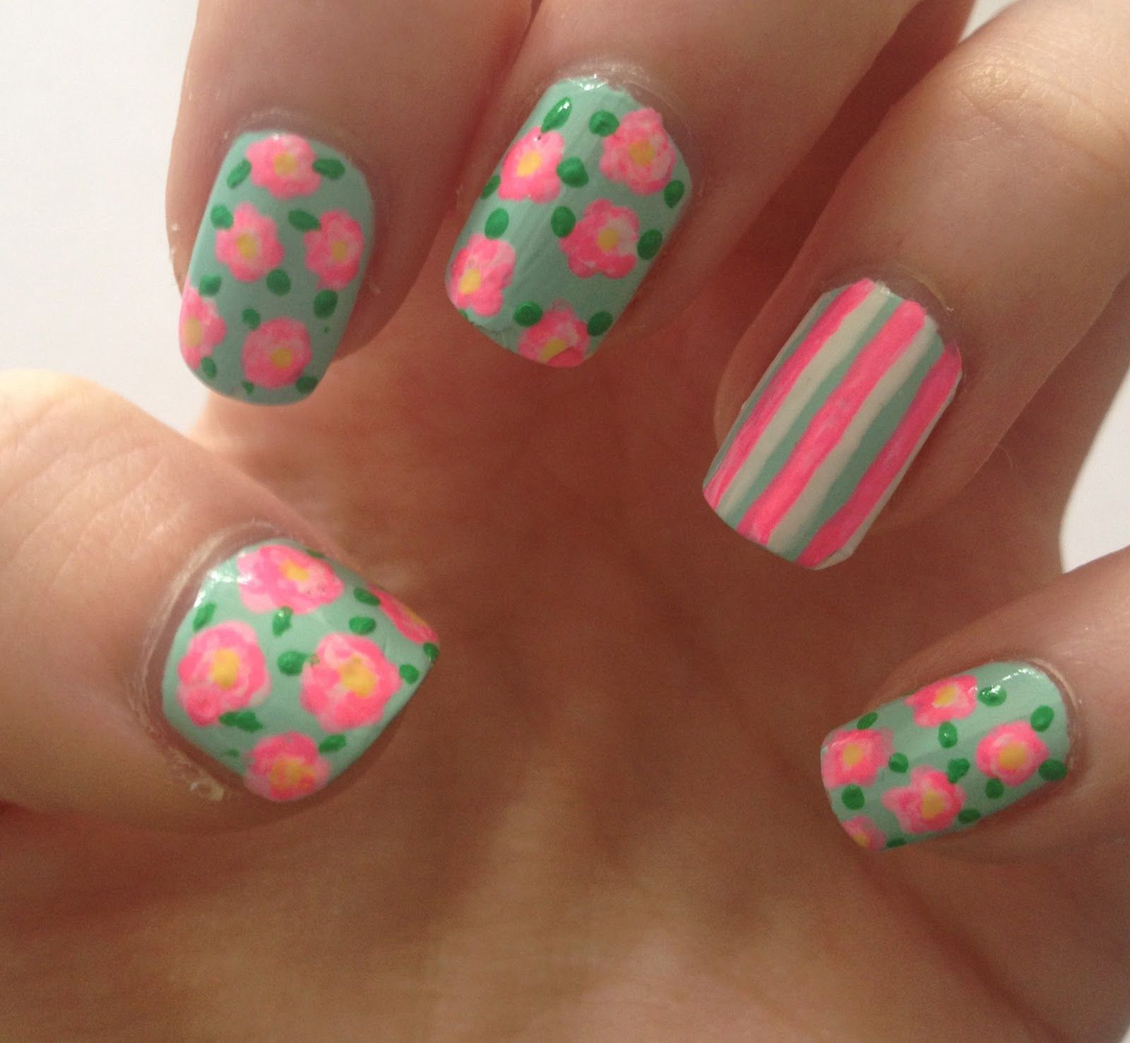 Coleyyyful: A Beauty & Fashion Blog: How to create Floral Nails ...