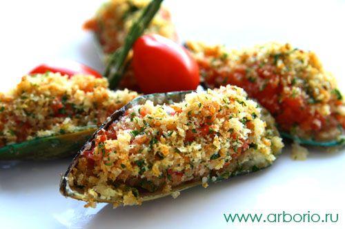 Фото к рецепту Мидии, запеченные с помидорами | Food ...