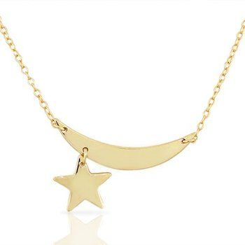 Funky and fresh, this #MoonandStar #pendantnecklace is sure to make you feel celeb chic!  Find it on: MyDailyStyles.com!