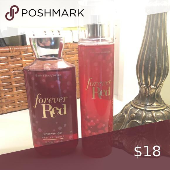 Bath & Body Forever Red Set in 2020 Shower fragrance