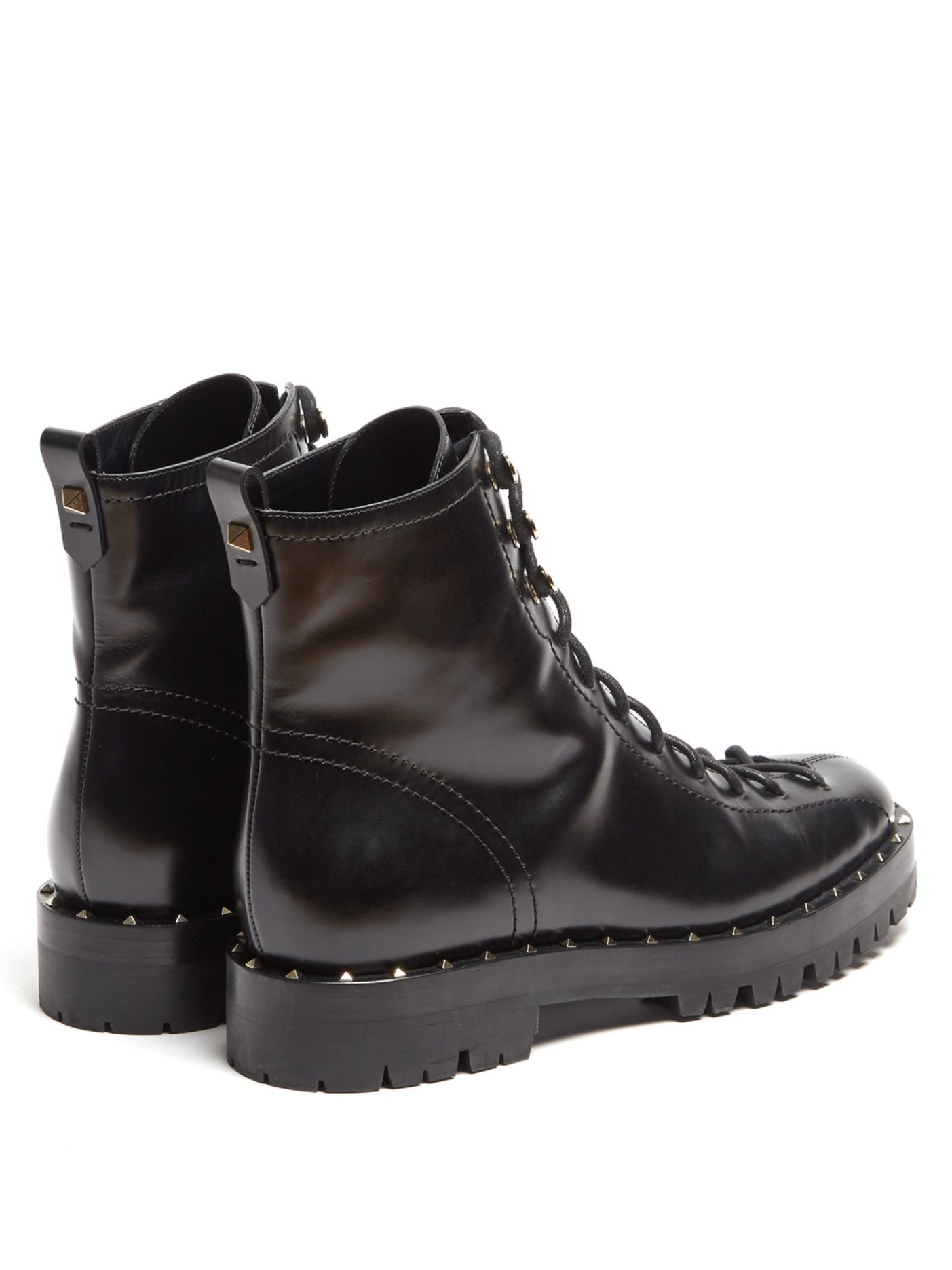 68c30bb7f96 Click here to buy Valentino Soul Rockstud trek-sole leather ankle ...