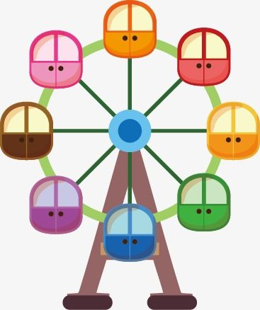 Ferris Wheel Wheel Icons Cartoon Child Png Transparent Clipart Image And Psd File For Free Download Birthday Board Classroom Circus Crafts Ferris Wheel