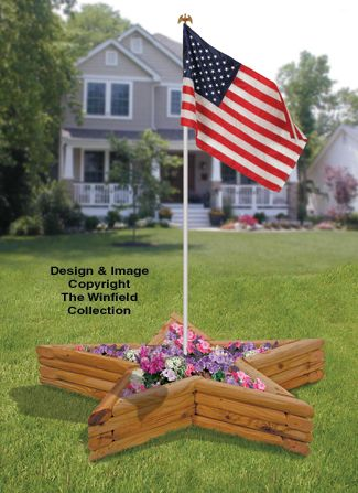 Planter Woodworking Plans Landscape Timber Star Planter Plans Landscape Timbers Landscape Timber Crafts Flag Pole Landscaping