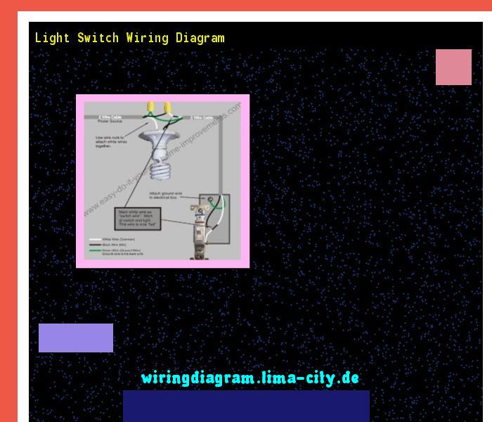 Light Switch Wiring Diagram  Wiring Diagram 17571