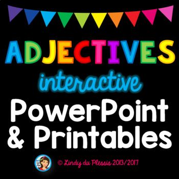 Adjectives PowerPoint and Worksheets | 2nd grade activities ...
