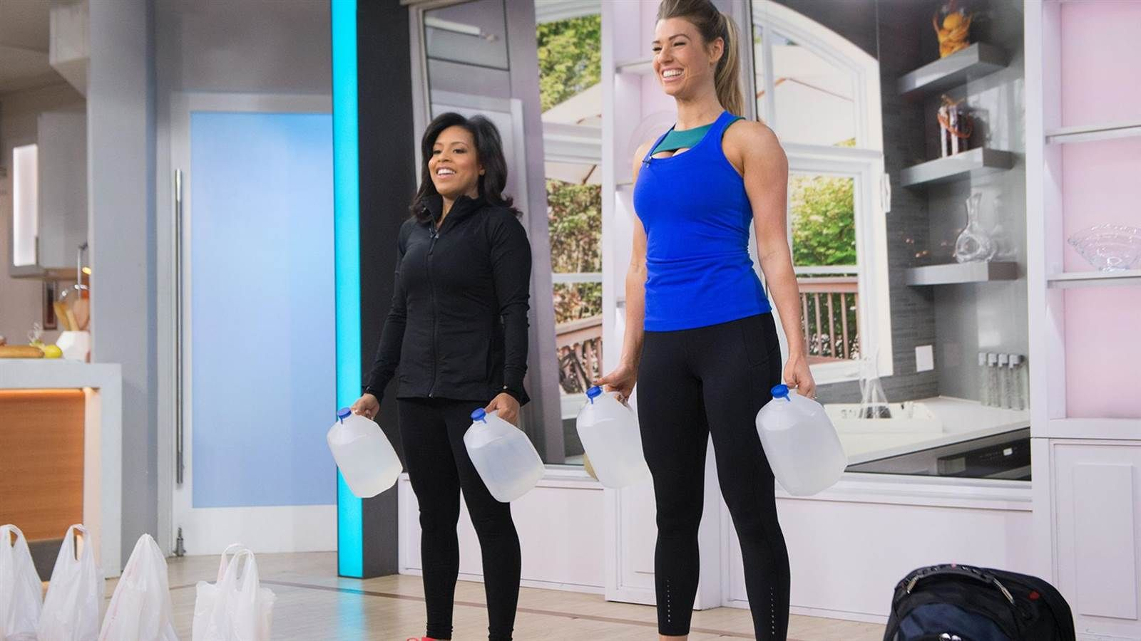 Fitness instructor and Instagram star Anna Victoria shares her no excuse, no gym total fitness workout plan on TODAY. She demonstrates how to use everyday items like backpacks, melons and filled grocery bags to kick your workout plan into gear from the convenience of your home.
