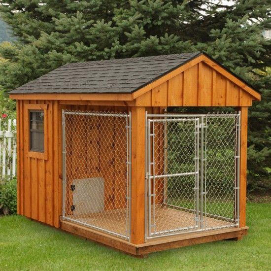 Amish Cedar Heated Dog Kennel 6x10 Dog House Plans Dog