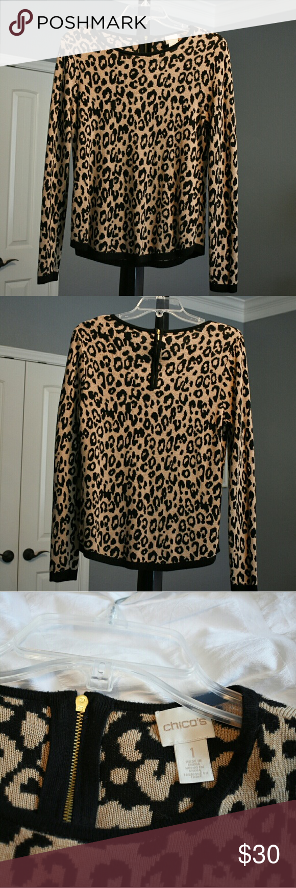 Chico S Animal Print Pull Over Sweater Leopard Print Sweater Sweaters Print Pullover [ 1740 x 580 Pixel ]