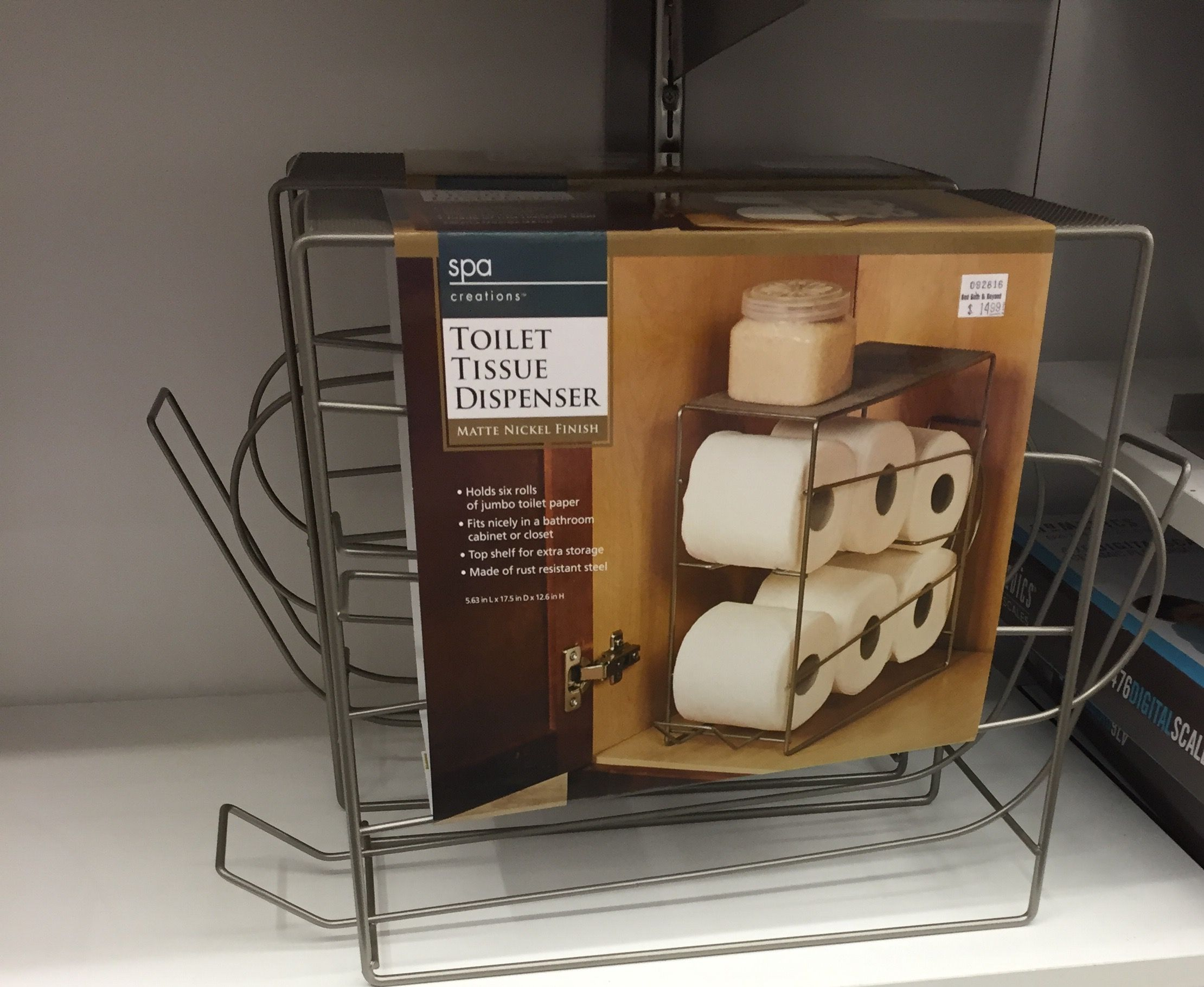 Toilet paper holder I liked from bed bath & beyond today. | Bronze