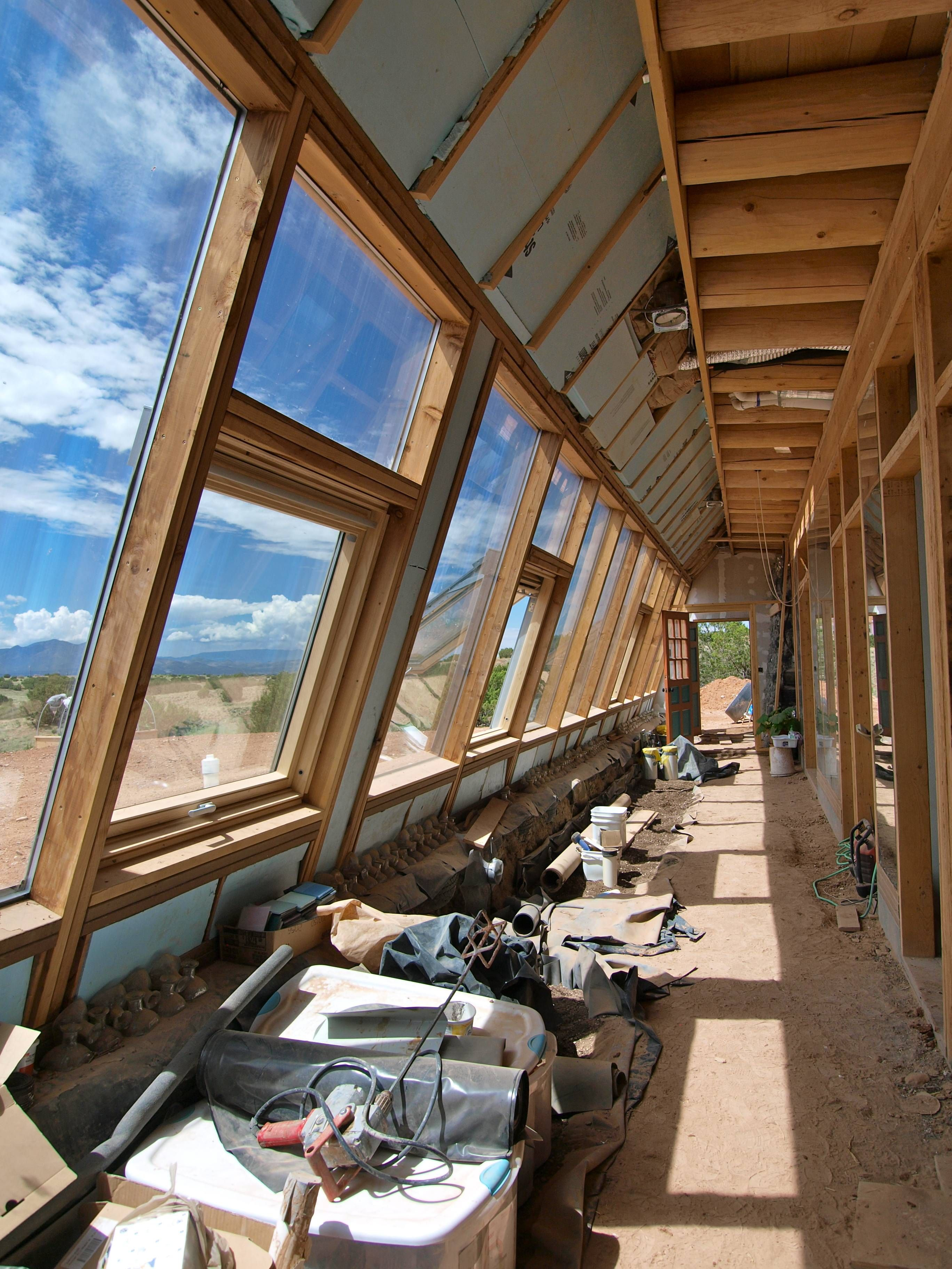 Earthship Construction Of Houses Earthship Home Earthship