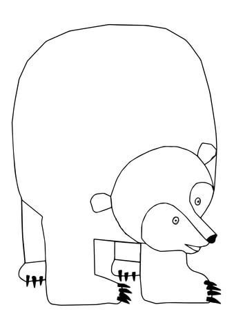 Brown Bear Brown Bear What Do You See Coloring Page Brown Bear