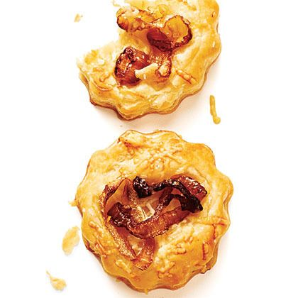 Caramelized Onion Tartlets By Cooking Light. Store Bought Puff Pastry Gives  Caramelized Onion Tartlets