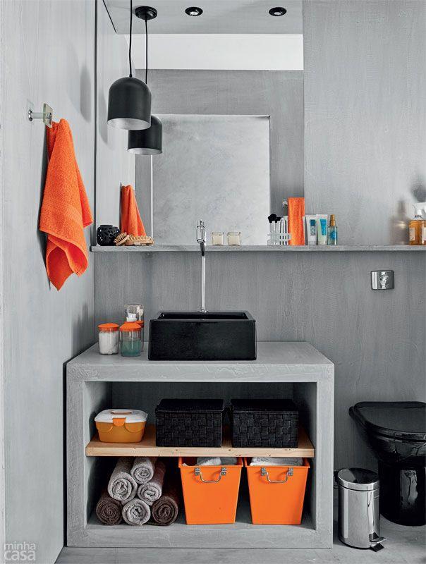 Banheiro Tem Cimento Queimado No Piso Na Parede E Ate No Forro